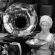 Vintage gramophone and antique objects - Foto Stock