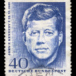 JFK postage stamp - Zdjcie stockowe