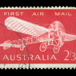 Monoplane vintage postage stamp - Foto Stock