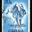 Rabbit vintage postage stamp - Foto Stock