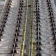 Railway tracks background - Foto Stock