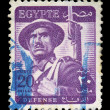 Soldier postage stamp — Stock Photo