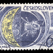 Moon research space exploration postage stamp - Foto Stock