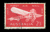 Monoplane vintage postage stamp — Photo