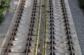 Railway tracks background — Stock Photo