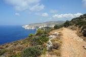 Windswept coastal ridges — Stock Photo