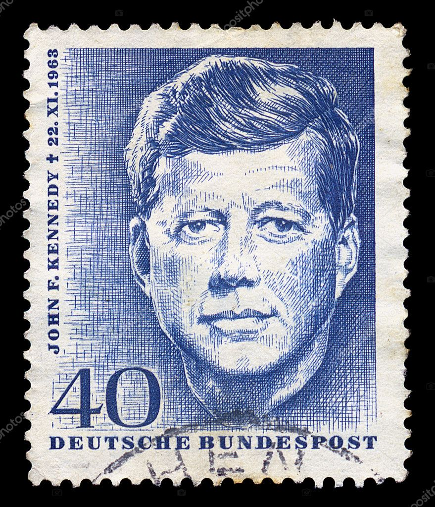 GERMANY - CIRCA 1964. Vintage postage stamp memorializes John F. Kennedy, circa 1964. — Stock Photo #5538298