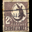 Crocodile vintage postage stamp — Stock Photo