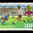 Football match postage stamp — Stock Photo