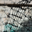 Plastic wire fence background — Foto de Stock