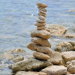 Stone structure on rocky shore — Foto de Stock