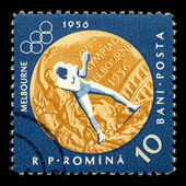 Boxing sports postage stamp — Стоковое фото