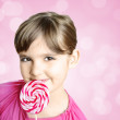 Girl with lollipop — Stock Photo