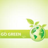 Go Green vector — Stock Vector