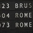 Flight information for Rome — Stock Photo #6080294