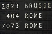 Flight information for Rome — Stock Photo