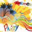 Stock Vector: Summer party design