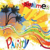 Summer party design — Stock Vector
