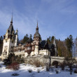 Peles Castle situated in the Carpathian Mountains, Sinaia, Roman - Foto de Stock  