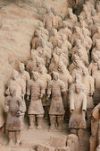 Terracotta warriors — Stock Photo