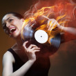 Stock Photo: Musical record