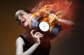 Musical record — Stock Photo