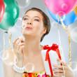 Girl wit balloons — Stock Photo #5847963