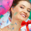 Girl wit balloons — Stock Photo #5847973