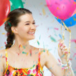 Girl wit balloons - Stock Photo
