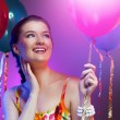 Girl wit balloons — Stock Photo #5894996