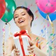 Girl wit balloons — Stock Photo #5957556