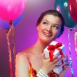 Girl wit balloons — Stock Photo #6009026