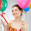 Girl wit balloons — Stock Photo #6009029