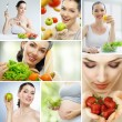 Eating healthy food - Stockfoto