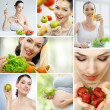 Foto de Stock  : Eating healthy food
