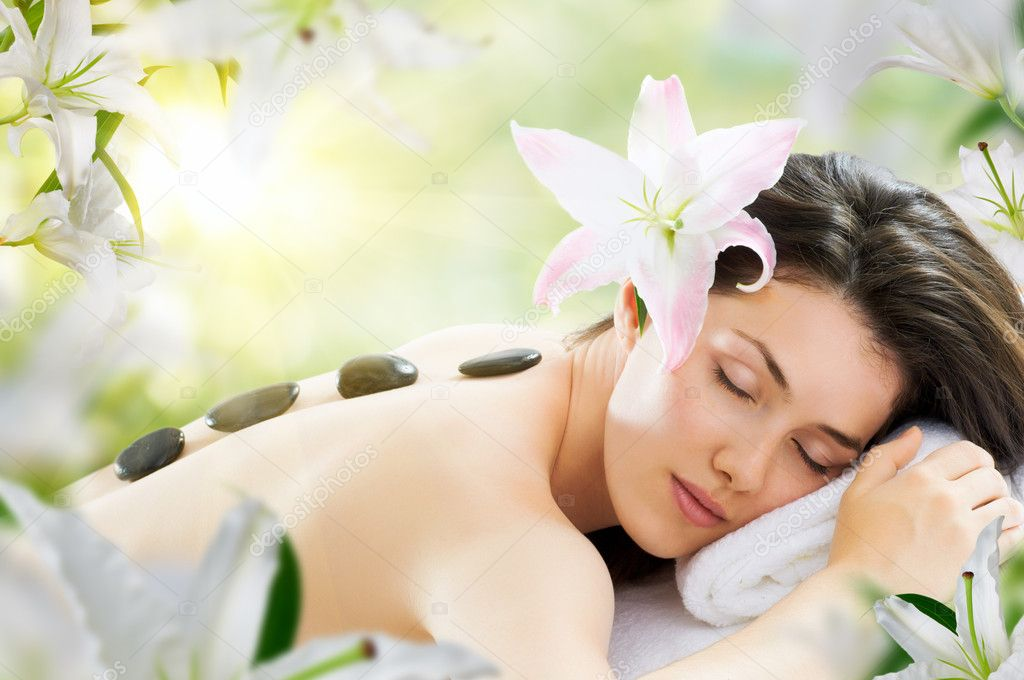 A beauty woman getting spa  Stock Photo #6461647