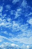 Blue sky with clouds — Foto de Stock
