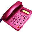 Stock Photo: Pink IP phone closeup