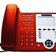 Stock Photo: Red IP phone closeup