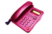 Pink IP phone closeup — Stock Photo