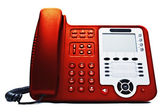 Red IP phone closeup — Stock Photo