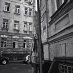 Beautiful woman on the street — Stock Photo #6119335
