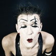 Clown with a dark makeup — Stock Photo #6250721