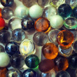 Background with transparent colored glass beads — Stock Photo #6250727