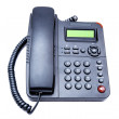 Black IP phone — Foto de Stock