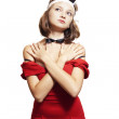 Stock Photo: Woman with bunny ears