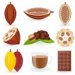 Icon Set Cocoa — Vettoriale Stock #6438139