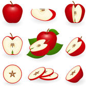 Red apple — Vector de stock