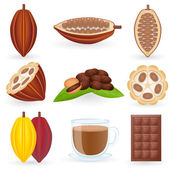 Pictogrammenset cacao — Stockvector