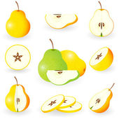 Icon Set Pear — Stock Vector
